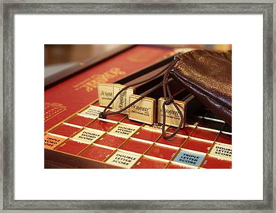 Double Word Score - Mike Hope Framed Print