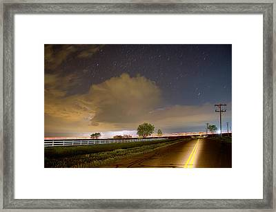 Double Yellow Storm Chase Framed Print