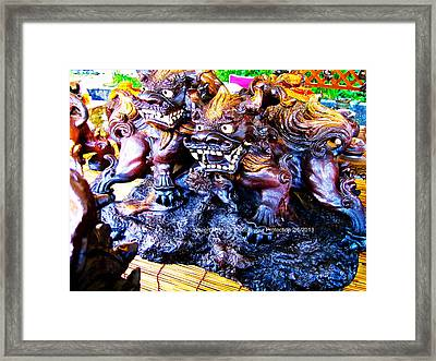 Double You're Protection Framed Print