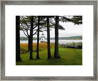 Doubling Point Light Arrowsic Framed Print