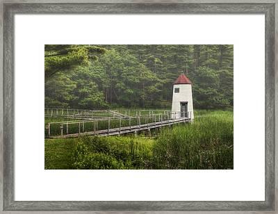Doubling Point Range Lights Framed Print