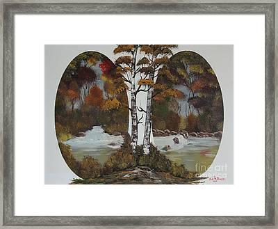 Doubling The Autumn Splendor Framed Print by Bob Williams