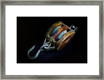 Hook Block Or Pully Block - Nautical Framed Print