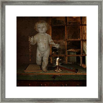Doubting Divinity Framed Print by Jeff Burgess