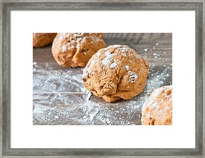 Dough Framed Print by Tom Gowanlock