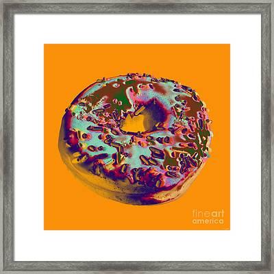 Doughnut Framed Print by Jean luc Comperat