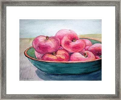 Doughnut Peach Framed Print by Jennifer Kwon