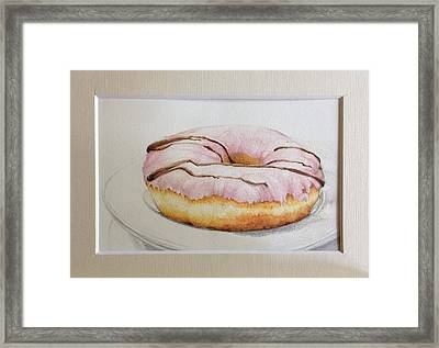 Doughnut You Want Some? Framed Print by Megan Doman