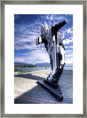 Douglas Coupland's Digital Orca Framed Print