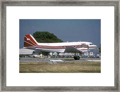 Douglas Dc-3 N193dp Van Nuys Airport June 23 2000 Framed Print by Brian Lockett
