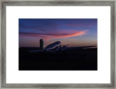 Douglas Dc-3 Sunrise Framed Print by Amber Kresge
