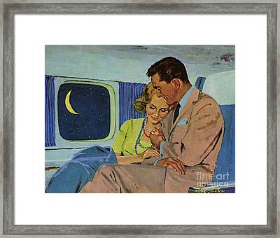 Douglas Dc-8  1960s Uk Aeroplanes Framed Print by The Advertising Archives