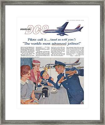 Douglas Dc8 Saturday Evening Post Advertisement Framed Print