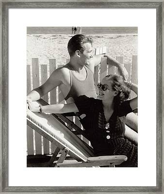 Douglas Fairbanks Jr. With Joan Crawford Framed Print by Edward Steichen