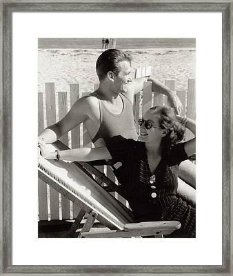Douglas Fairbanks Jr. With Joan Crawford Framed Print