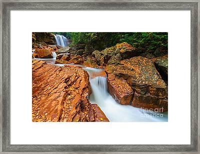 Douglas Falls D30012676 Framed Print by Kevin Funk