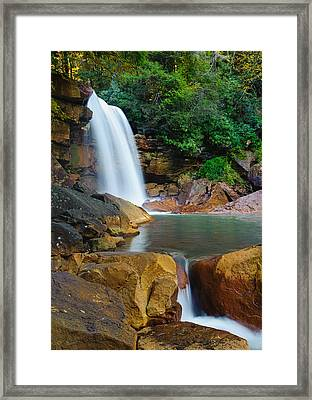 Framed Print featuring the photograph Douglas Falls by Tyson and Kathy Smith