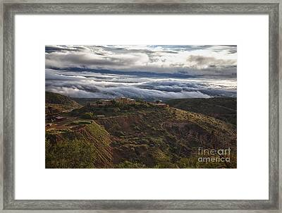 Douglas Mansion With A Sea Of Clouds Framed Print