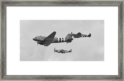 Douglas Mustang Spitfire Framed Print by Maj Seda