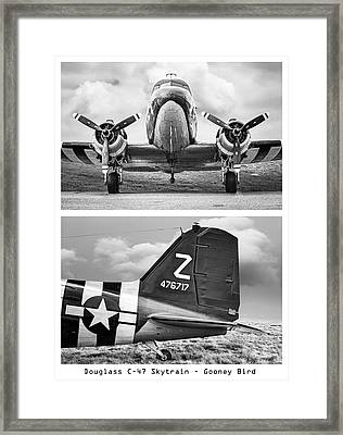 Douglass C47 Skytrain Poster - Gooney Bird Framed Print by Gary Heller