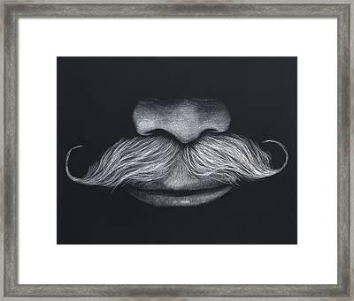 Doug's 'stache Framed Print