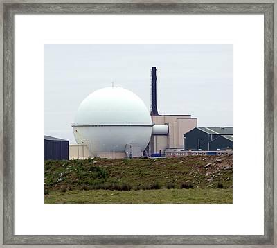 Dounreay Nuclear Reactor Framed Print by Public Health England