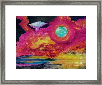 Dove In Flight Framed Print