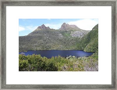 Dove Lake Tasmania All Profits Go To Hospice Of The Calumet Area Framed Print