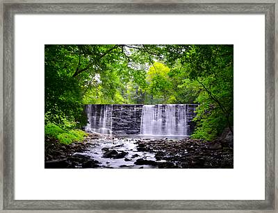Dove Lake Waterfall At Gladwyne Framed Print