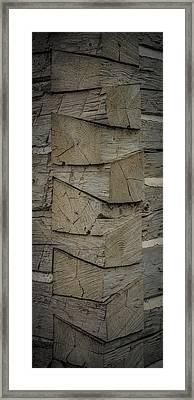 Dove Tailed Log Cabin Framed Print