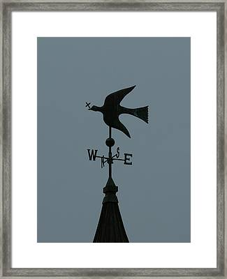 Dove Weathervane Framed Print by Ernie Echols