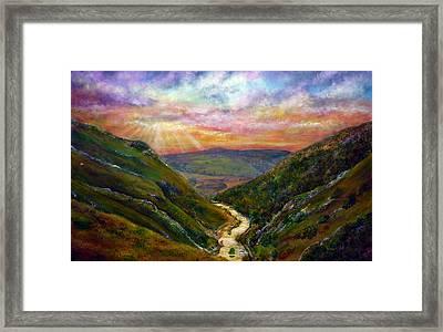 Dovedale Sunset Framed Print by Ann Marie Bone