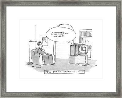 Dow Jones' Greatest Hits Framed Print by Mick Stevens