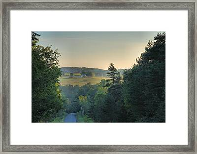 Down A Country Road Framed Print by Steven Ainsworth