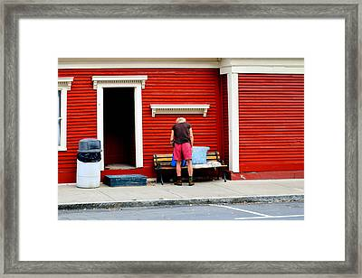 Down And Out In Montpelier Framed Print by Geoffrey Coelho