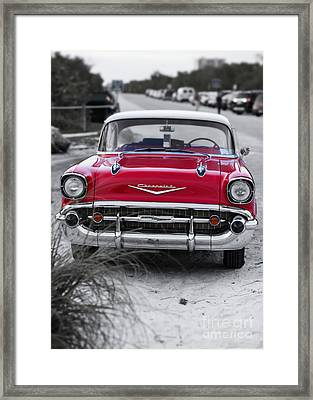 Down At The Shore Framed Print by Edward Fielding