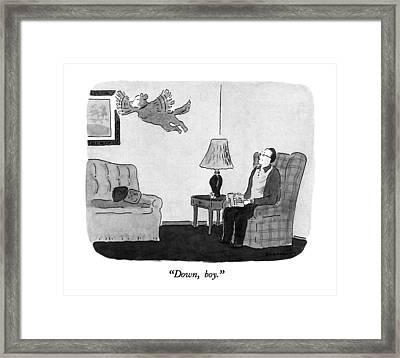 Down, Boy Framed Print by Danny Shanahan