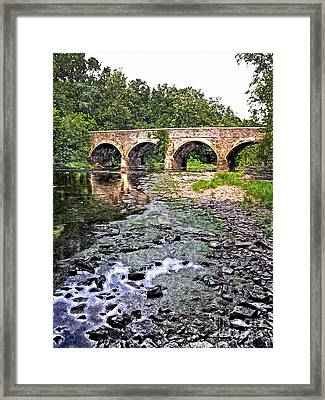 Down By The Crick Framed Print by Tim Kravel