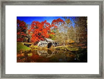 Down By The Old Mill Stream  Framed Print by Lynn Bauer