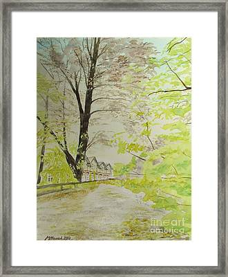 Down By The Old School Framed Print by Martin Howard