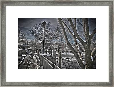 Framed Print featuring the photograph Down By The River by Deborah Klubertanz