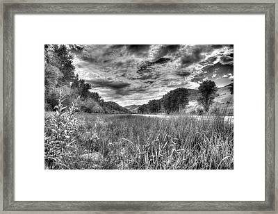 Framed Print featuring the photograph Down By The River  by Kevin Bone