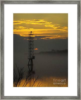 Framed Print featuring the photograph Down By The River by Robyn King