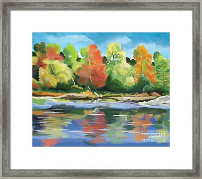 Down By The River Framed Print by Tim Gilliland