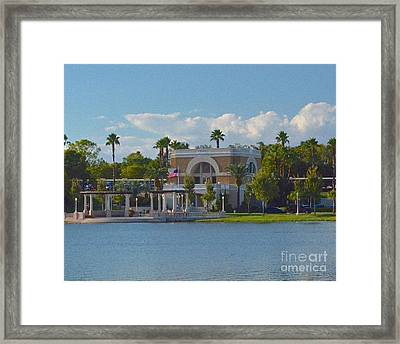 Down By The Station Framed Print