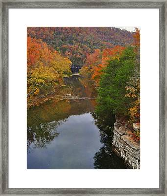 Down From Ponca Framed Print by Marty Koch