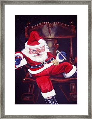 Framed Print featuring the painting Down From The Chimney by Susan Roberts