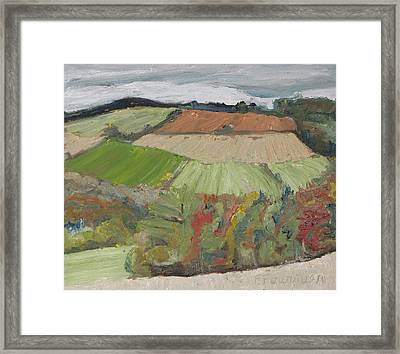 Down In The Valley Framed Print by Francois Fournier