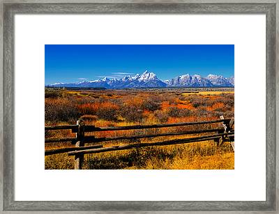 Down In The Valley Framed Print by Greg Norrell