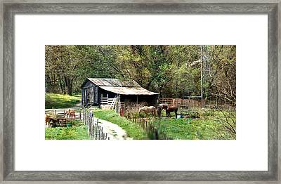 Down In The Valley Long Framed Print